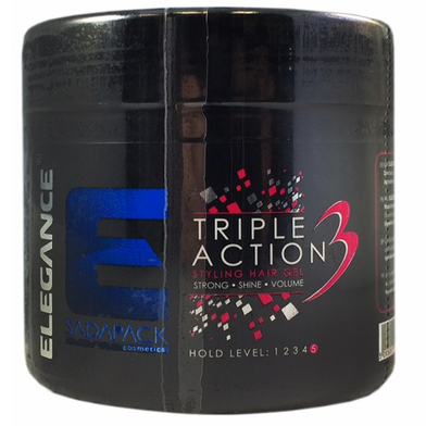 ELEGANCE TRIPLE ACTION HAIR SYLING GEL 250ML X 6