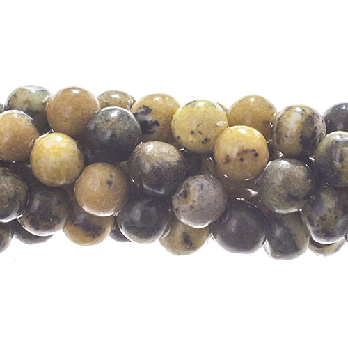 Yellow/Green Howlite Natural Grade C 6mm  15.5-16in strand