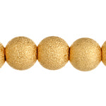 Metal STARDUST beads - gold colour - various sizes