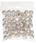 Metal Beads - Stardust - SILVER colour - various sizes