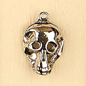 Skull - shiny - Charms
