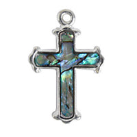 Sea Opal Cross Pendant