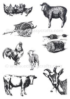 Joy! Crafts Clear Stamp Farm Animals