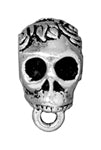 Decorative Bails (for on cord) SKULL (Tierra Cast)