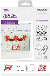 Crafter's Companion Gemini Stamp & Die Set, Decorative Garland