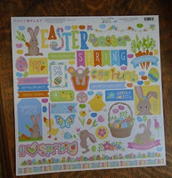 "Colorplay 12x12 Sticker sheet  ""Bunny Trail"""