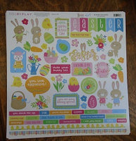 "Colorplay 12x12 Sticker sheet  ""Easter Wishes"""