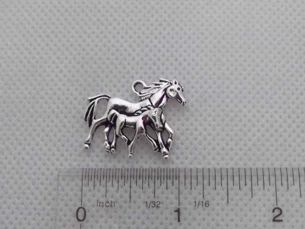 Horse with Foal Charm