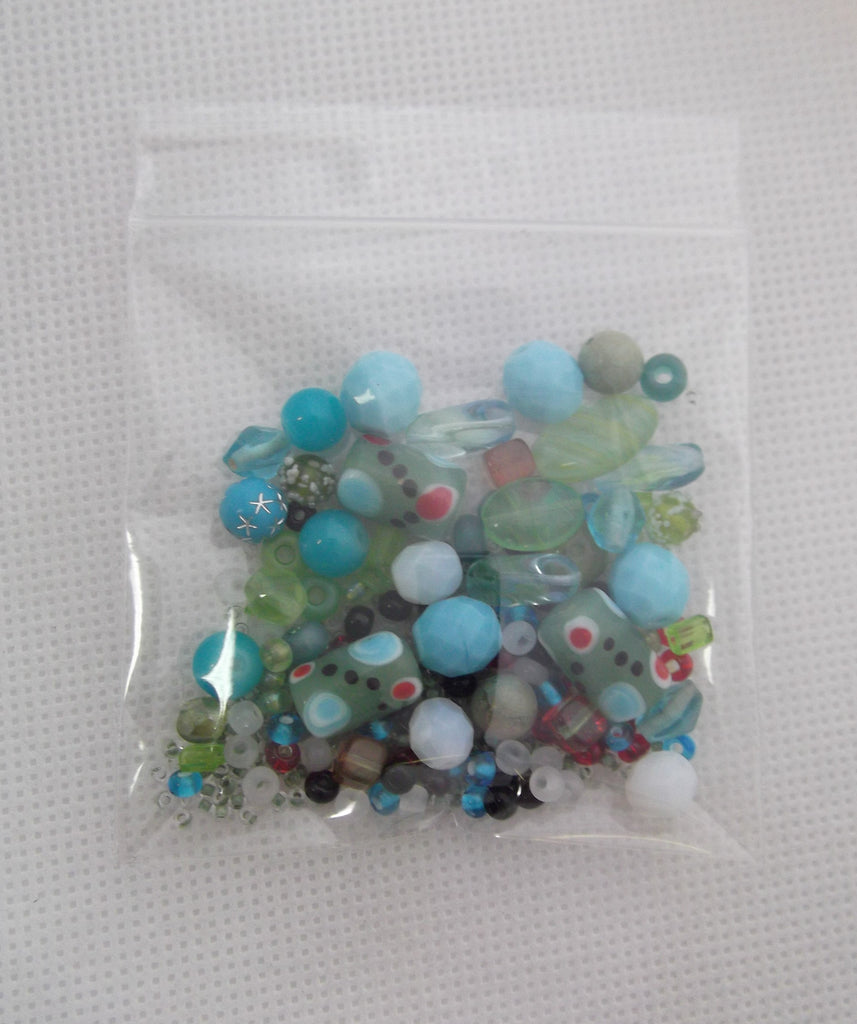 Bead Mix - Green + Aqua