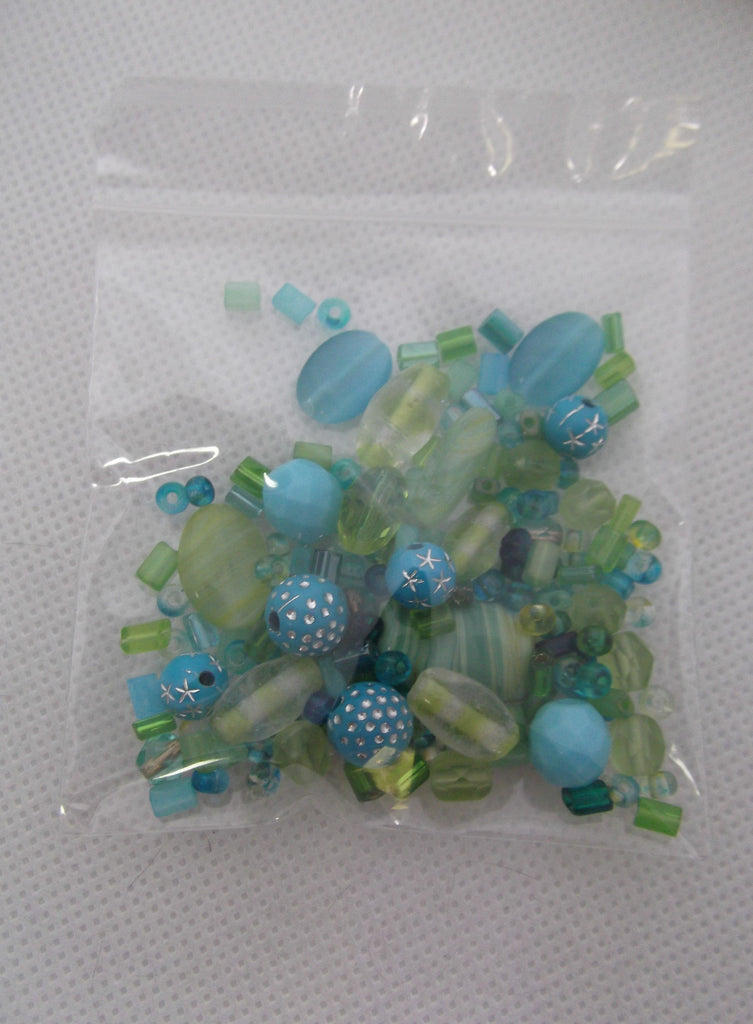 Bead Mix - Tropical Oceans of Aqua/Green