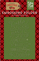 Reindeer Names embossing folder.