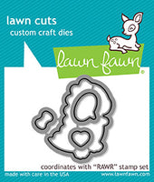 "Lawn Fawn ""RAWR"" stamps + dies"