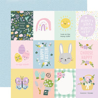 "Simple Stories 12x12 patterned paper, Bunnies + Blooms ""3x4 Elements"""