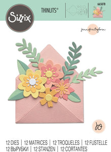 Flowers with Envelope Thinlits Die Set