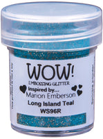WOW! Embossing Powders - Embossing Glitter - Long Island Teal