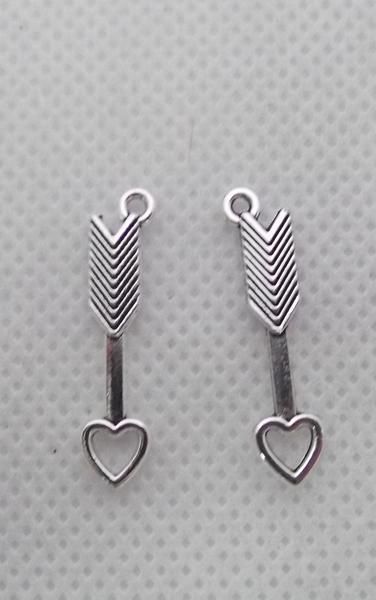 Heart Arrow Charms