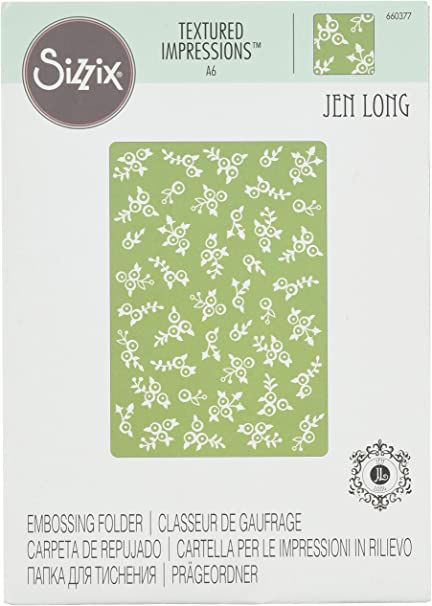 Lovely Flowers Textured Impressions Embossing Folder