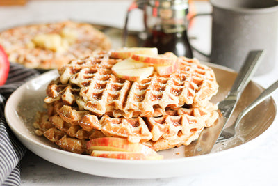 Apple Cinnamon Protein Waffles