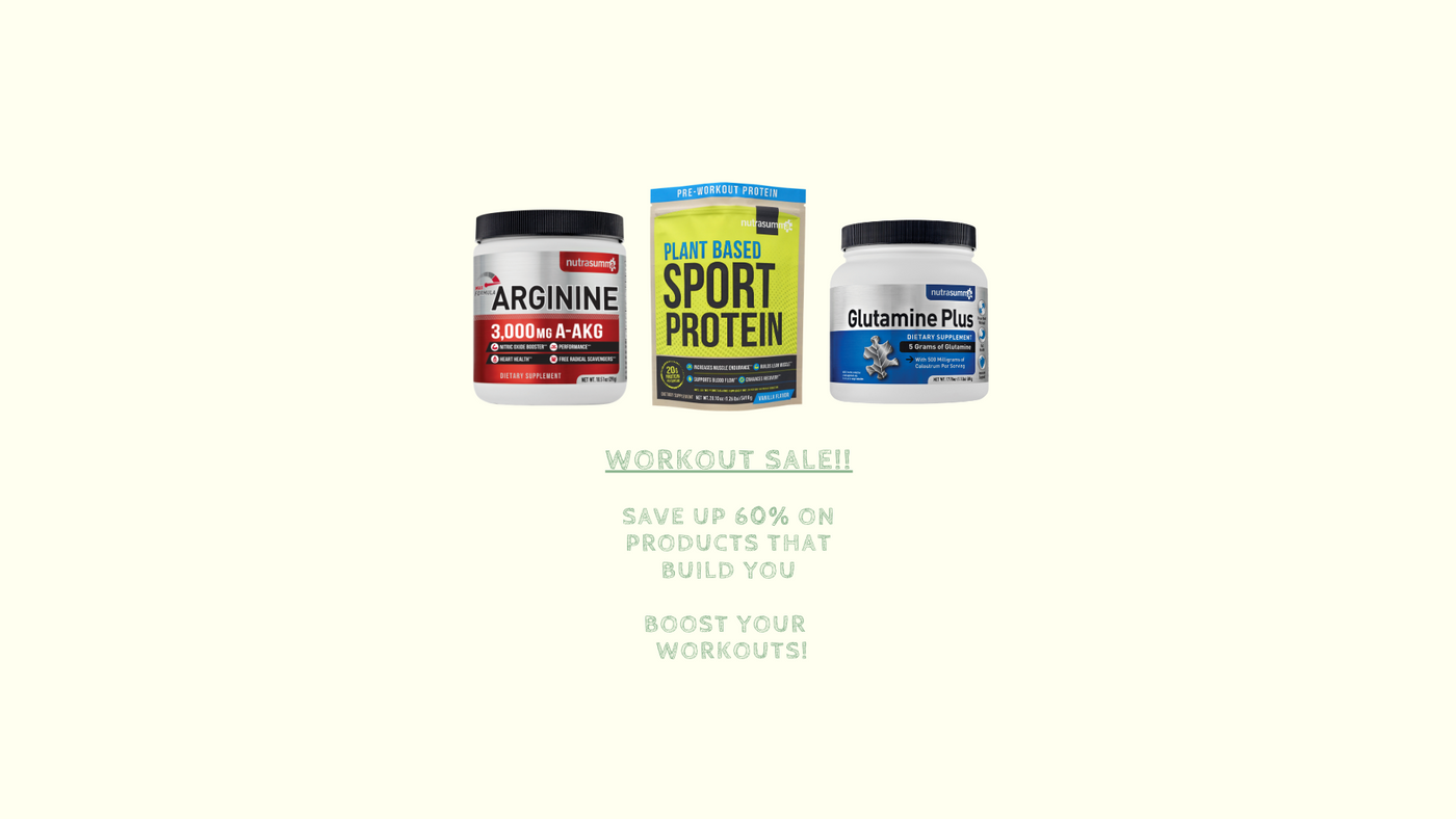 Boost your workout with Nutrasumma's workout sale
