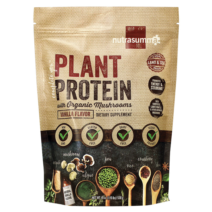 Harvest Blend Plant Protein with Organic Mushrooms(Expired 08/2020)-Clearance