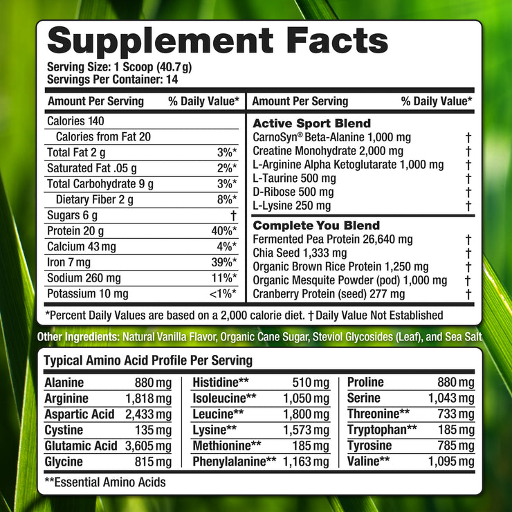 Nutrasumma plant based sport protein powder nutrition