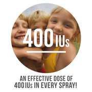 Effective Dose of 400IU in each spray