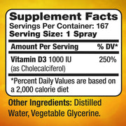 Vitamin D3 Supplement Spray 1oz