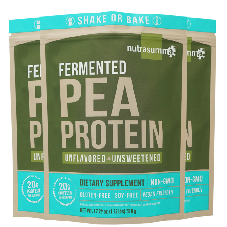 Fermented Pea Protein 1lb Pouch - Unflavored & Unsweetened (3 Pack)