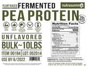 Fermented Pea Protein 10lb Box - Unflavored & Unsweetened