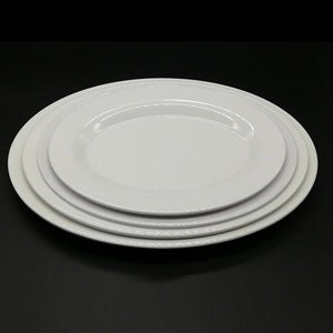 A5 Melamine Dinnerware Dinner Plate Fast Food Restaurant Oval Dish Cafeteria Victualing House Tableware Household Sashimi Plate