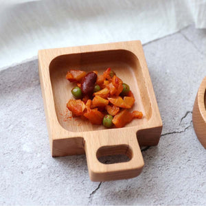 Small Dinner Plates Wooden Tray Food Snack Dessert Tea Dish Seasoning Sauce Food Dipping Dishes Plate Round Square Rectangle