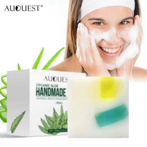 100% Organic Natural Aloe Vera Handmade Oil Soap moisturizing soothing olive oil base Soap TSLM1