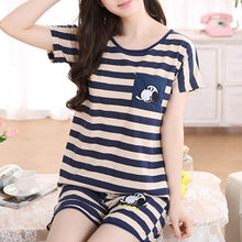 New Women Pajamas Suits Lovely Home Suit Sleepwear Short Sleeve Pyjamas Comfortable Girl Spring And Summer Colthing