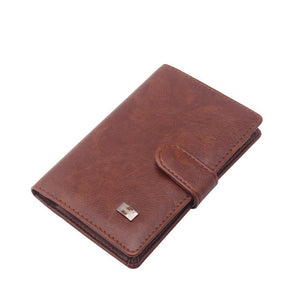 PU Leather Passport Cover Men Travel Wallet Credit Card Holder Cover  Russian Driver License Wallet Document Case --BIH009 PM20
