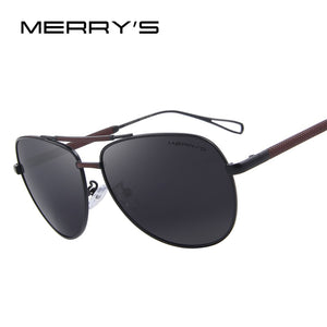 MERRY'S Men Classic Aviation Sun glasses HD Polarized Luxury Aluminum Driving Sun glasses S'8718