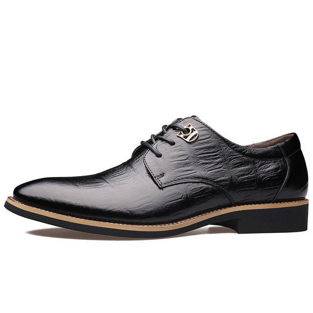 Merkmak 2017 Luxury Brand Men Flats Fashion High Quality Genuine Leather Shoes Mens Lace Up Business Dress Shoes Oxfords For Men