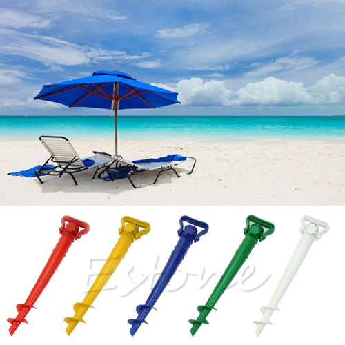 1 pc Sun Umbrella Holder Beach Garden Patio Parasol Ground Earth Anchor Spike Stand