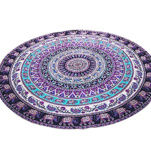 Mutifunction Hot Hippie Indian Mandala Beach Throw Towel Round Mat Boho Tapestry Yoga Mat Home textile