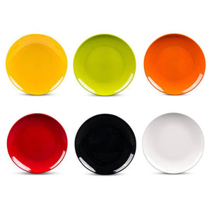 1 PC 10 inch Melamine Round Plate Dish Eco-friendly Dinnerware Spaghetti Fruit Pastry Buffet Hot Pot Shop Kitchen BBQ Use