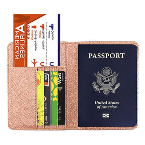 New Unisex Bright Surface Antimagnetic Certificate Card Bag Shining Leather Cover On the Passport Package Travel Passport Bag
