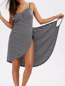 Bath Towel Bathrobe Striped Beach Dress Fast Dry Wash Clothing Wrap Women Bath towels robe de plage beach dress Holiday