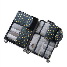 RUPUTIN 7Pcs/set Travel Luggage Organizer Clothes Storage Bag High Quality Waterproof Cosmetic Toiletrie Bag Travel Accessories