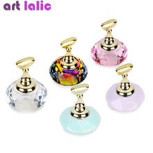 1Pc Magnetic Nail Holder + 5 Tips Practice Training Display Stand Crystal Holders Alloy False Nails Showing Shelf Manicure Tools