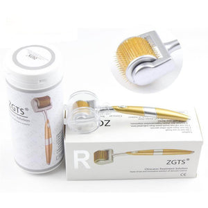 Professional Titanium ZGTS Derma Roller 192 needles for face care and hair-loss treatment CE Certificate Proved