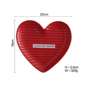 1pc Heart Shape Tableware Ceramic Dinner Plate Dish Porcelain Dessert Plate Dinnerware Cake Plate for Wedding China Plates Set