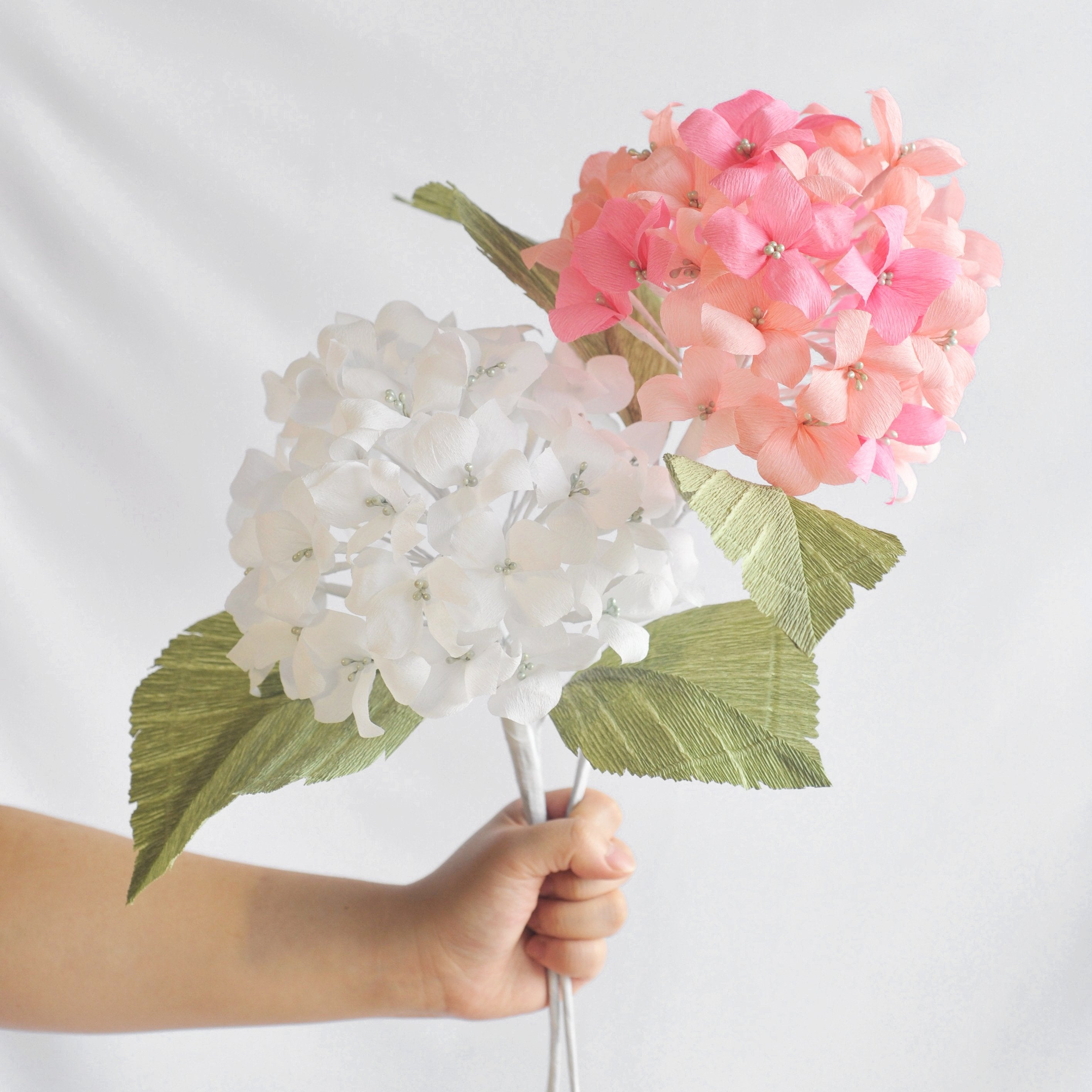 Single Stem Of Crepe Paper Hydrangea Florigami Sydney Australia