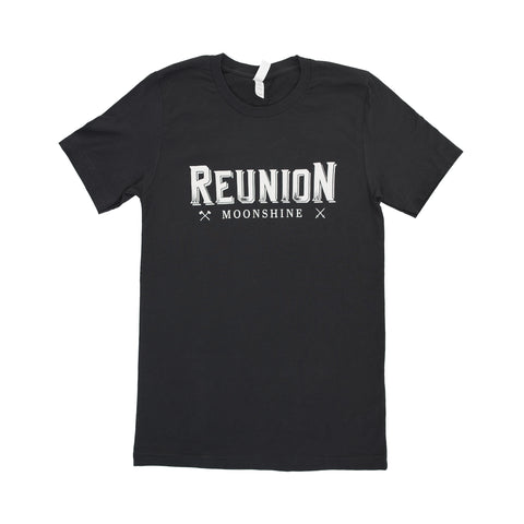 Reunion Moonshine Black Logo T-Shirt