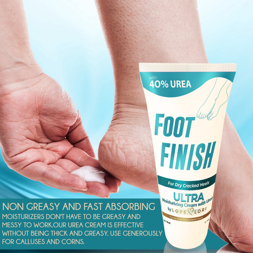 Foot Finish Moisturizing Cream With 40% Urea For Severely Dry Cracked Skin