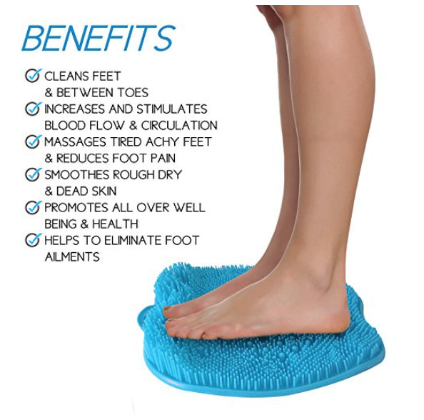 Blue Shower Sole Scrubber And Foot Massager