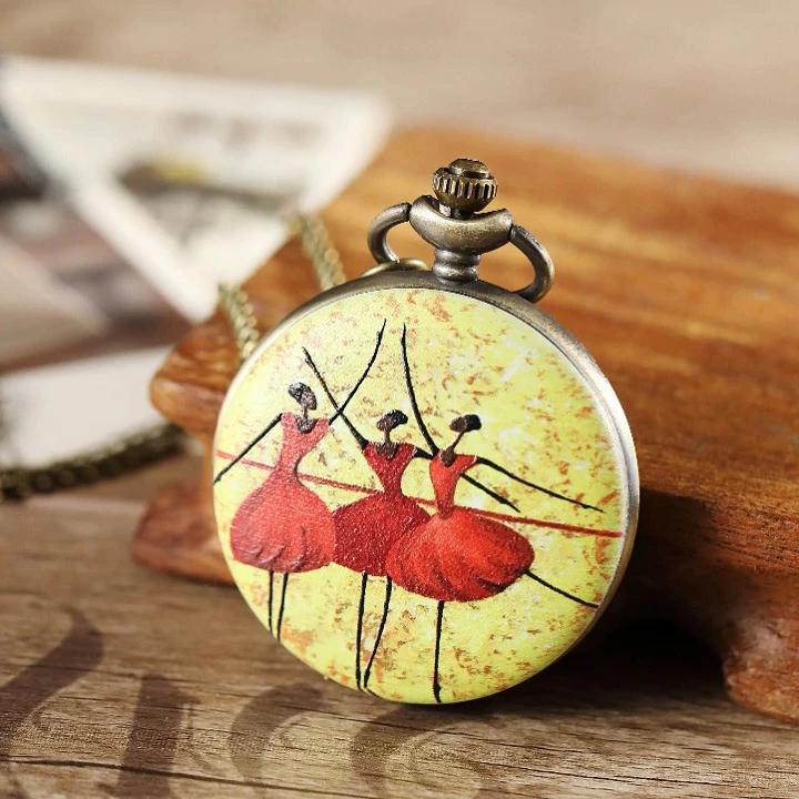 The Pas de Trois Ballerina Pocket Watch